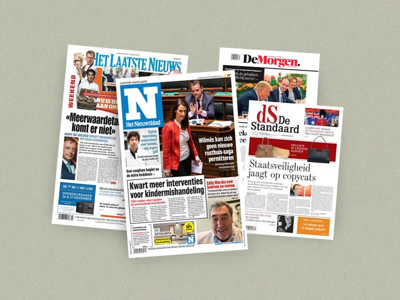 Grootste Belgische kranten